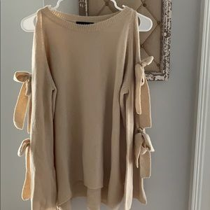 Gorgeous cold shoulder sweater